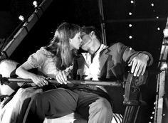 James Dean and Julie Harris in East of Eden  #kiss #kisses #kissing #couple #love #passion #romance #fair