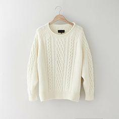 Nili Lotan cable raglan sweater on shopstyle.com