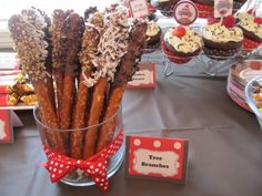 Sock Monkey food ideas and tent cards.