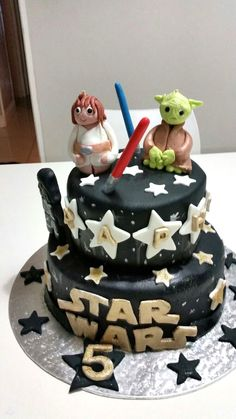 Star wars cake Ma Baker, Star Wars Cake, Cakes, Desserts, Food, Meal, Deserts, Essen, Hoods