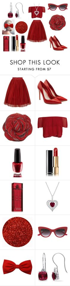 """""""Lady in Red"""" by holly32196-1 on Polyvore featuring Alexander McQueen, Judith Leiber, Keepsake the Label, OPI, Chanel, Elizabeth Arden, Dolce&Gabbana, Miadora, chic and love"""