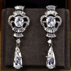 Zircon Earring JHZ-250 USD57.41, Click photo to know how to buy / Contact me for discount, follow board for more inspiration