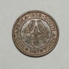 Union of South Africa 1959 Union Of South Africa, Coin Values, Coins
