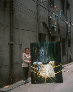 Francis Bacon's 'Portrait of Pope Innocent X' -China Copy Artist by Michael Wolf Photography Francis Bacon Pope, Michael Wolf, Wolf Images, Wolf Photography, Reproduction, Illustrations, Photo Projects, Sculpture, Community Art