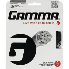 "GAMMA Live Wire XP features a firmer ""crisp"" feel for natural gut-like playability. Live Wire Multifilament Technology with TNT2 Processing for maximum playability and greater feel. Zyex® monofilaments added to the outerwrap provide added durability and help reduce tension loss."