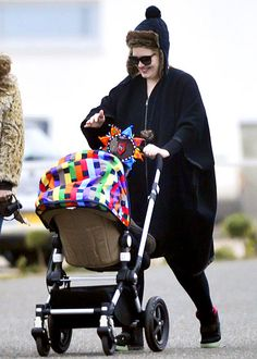 """Adele In October 2012, the Grammy-winning singer, then 24, welcomed a baby boy with boyfriend Simon Konecki. """"I have eczema from boiling bottles!"""" the new mom joked in January 2013. Adele has yet to confirm her son's name."""