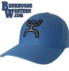 #GetYourHOOey Ultimate Blue, FlexFit Cap, White & Black Hooey Man, Curved Bill, Cowboy Hat, Rodeo, Roping, $29.98, http://bunkhousewestern.com/ulti