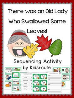 Creative Lesson Cafe: Fall Sequencing Fun! There was an Old Lady Who Swallowed Some Leaves!