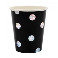 Black Holographic Cups Pk8 Meri Meri
