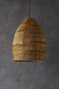 This lampshade is hand woven from seagrass on a metal frame and has a chain for hanging. A real statement piece for your living space. Hotel Lounge, Bedroom Lampshade, Bedroom Ceiling, Little Greene, Electrical Fittings, Bedroom Green, Master Bedroom, Hanging Pendants, Open Weave