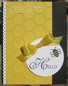 1/20/2013; Brenda Keenan at 'Keenan Kreations' blog; Lacy & Lovely, Spring Sampler stamp sets; Honeycomb EF
