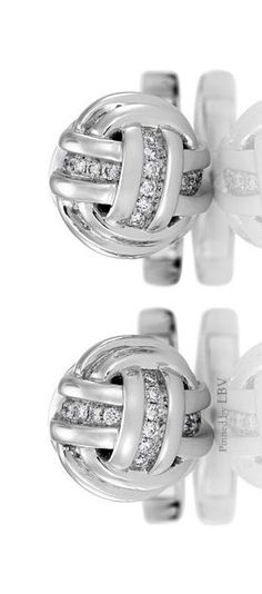 De Beers ♥✤Mens Collection. Charming and elegant, these 18K white gold cufflinks are pavé-set with 110 round brilliant diamonds