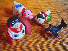 Japanese Toy 鯨車・犬張子・犬車