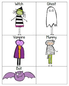 Picture Cards for a Halloween sequencing activity