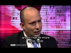 """בנט ב-BBC: """"יהודים היו בארץ ישראל הרבה לפני שהבריטים הגיעו לבריטניה"""" - YouTube"""