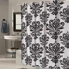 Shop for EZ On Fleur De Lis Fabric Shower Curtain/ Liner with Built-in Hooks (70 x 75). Free Shipping on orders over $45 at Overstock.com - Your Online Bath