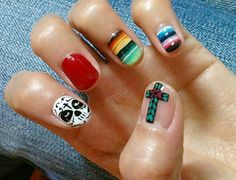 Day Of The Dead Nail Art: o my heavens yes. i have to do these <3