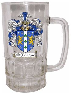 Glass Family Crest/Coat of Arms Stein