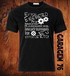 #tshirt #engenharia #camiseta Camiseta Eu sou engenheiro