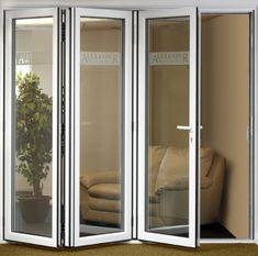 Dupla liga de alumínio de vidro interior portas sanfonadas                                                                                                                                                     Mais