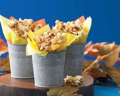 Creative Fall Finger Foods | | Blissfully Domestic Blissfully Domestic- Spicy Maple Bacon, Pop Secret Homestyle Popcorn with Diamond Almonds
