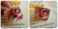 Souvlaki ap' ola . giros , tzatziki, fries , tomato , onion .