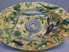 Bernard Palissy was a century artist, who used live animals as molds to create his artwork. I only handbuild my art, but his is in the Louvre, so what can I say! Reptiles, Alchemy Art, Alchemy History, French Crafts, Books For Self Improvement, David Hockney, Ceramic Art, Decorative Accessories, Clay People