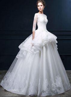 Lovely unique organza structure Cheap Lace Wedding Dresses 5ccddf93f634