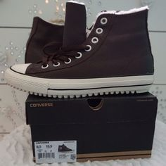LISTING CONVERSE CT BOOT SIZE 8.5MEN, 10.5WMN -BRAND NEW IN BOX  -SIZE: 8.5MEN, 10.5WOMEN -COLOR: BURNT UMBER -DESCRIPTION: UPPER LEATHER; LINING TEXTILE; OUTSOLE RUBBER -MADE IN CHINA -INCLUDE ORIGINAL BOX WHEN SHIP       ⭐️TOP RATED SELLER FAST SHIPPER NEXT DAY SHIPPING ❌NO TRADE ❌NO PAYPAL ✅BUNDLE OFFER Converse Shoes Winter & Rain Boots