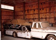 barn find. Chevy Truck and Camero