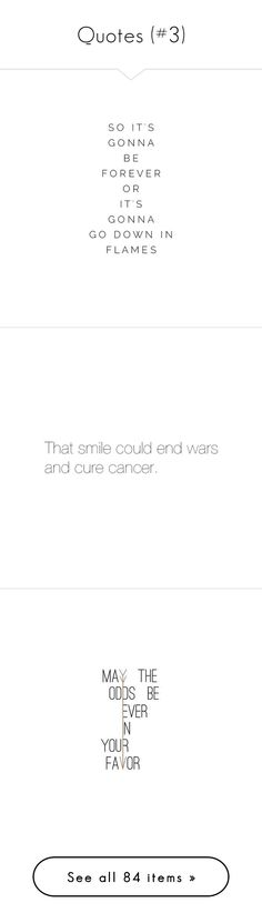 """Quotes (#3)"" by nerdbucket ❤ liked on Polyvore featuring quotes, words, text, fillers, lyrics, phrase, saying, pictures, phrases and teen wolf"