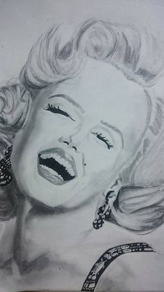 """""""A girl doesn't need anyone who doesn't need her. Pencils used: Faber Castell: H, B, Otherwise just a black gel pen and my eraser  Time need. Marilyn Monroe Art, Faber Castell, Gel Pens, Weird, Sculptures, Drawings, Painting, Black, Black People"""