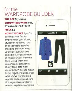 InStyle's top pick for wardrobe fashion apps! #iPhone #closet