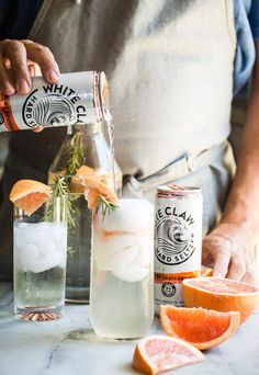 Low-Sugar Cocktails with Seltzer Water: Grapefruit and Rosemary Sparkling Seltzer Recipe