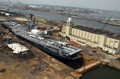 USS Intrepid in the drydock at Bayonne Dry Dock and Repair Corp (formerly Marine Ocean Terminal Bayonne), May 28, 2007
