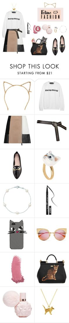 """Meow"" by spark-llay ❤ liked on Polyvore featuring Tasha, Brian Lichtenberg, Alexander Wang, Kate Spade, Nach Bijoux, Tiffany & Co., Kat Von D, Lulu Guinness, Fendi and Gucci"