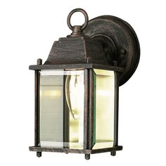 Bel Air Lighting CB-40455-RT 1 Light Porch Light With Clear Beveled