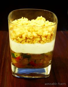 Chèvre Niçois Verrine with Crumble Topping
