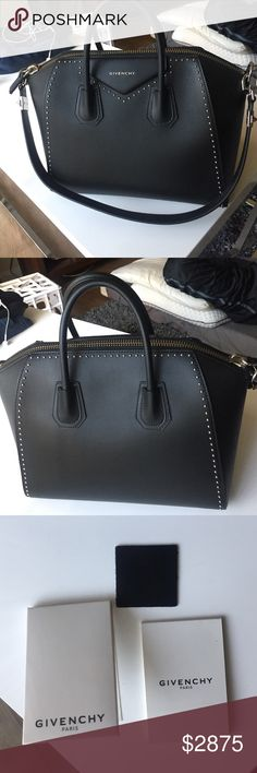 Medium Studded Givenchy Antigona Bag Black studded Givenchy antigona bag in excellent condition! I have never used this bag and I am ready to sell it. Givenchy Bags Satchels