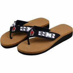 Arizona Cardinals Ladies Jewel Wedge Flip Flops #AZCardinals