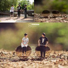 Better in Miniature: Pre-Wedding Photos by Ekkachai Saelow Minimal Photography, Cute Photography, Photography Lessons, Photoshop Photography, Creative Photography, Creative Photoshop, Photoshop Photos, Wedding Couple Poses Photography, Miniature Photography