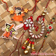 Awesome Set Of 5 Rakhis Send Rakhi To India, Buy Rakhi Online, Handmade Rakhi Designs, Baby Shawer, Online Gifts, Handmade Decorations, Barbie, Awesome, Quotes