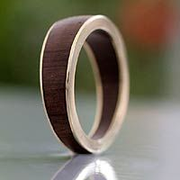 Gold band ring, 'Encounter with Nature' from @NOVICA, They help #artisans succeed worldwide.