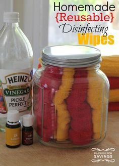Homemade Disinfectant Wipes! DIY Cleaning Supplies using Essential Oils!