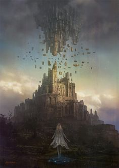 Ideas fantasy art landscapes castles environment for 2019 Fantasy City, Fantasy Castle, Fantasy Places, Fantasy Kunst, Fantasy World, Dark Fantasy, Fantasy Artwork, Fantasy Art Landscapes, Fantasy Concept Art