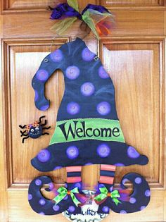 witchy welcome...burlap /es