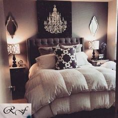 Chandelier Bedroom bedroom home modern beds interior design home ideas homes bedrooms chandeleir