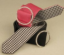 Pretty rhinestone slider ladies golf belts
