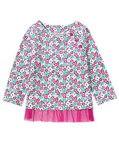 Back to Blooms- Floral Print Tulle Peplum (4.05/17.99)3T