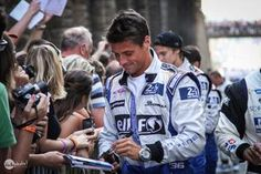 Nelson signing autographs at 24 hours of lemans 2014